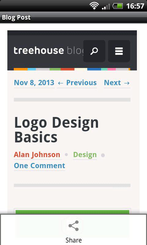 Blog Reader - screenshot