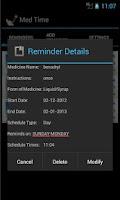 Screenshot of Med Time Reminder