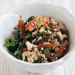 Shira-ae (Tofu Salad).