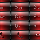 Dialer Gloss Red Dusk Theme