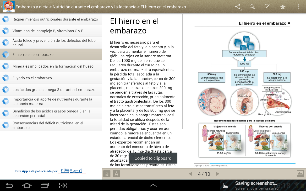 Miniatlas Embarazo y dieta - screenshot