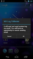 Screenshot of MX Log Collector