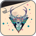 Hipster Deer Wallpaper icon