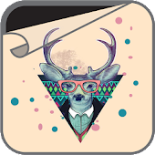 Hipster Deer Wallpaper