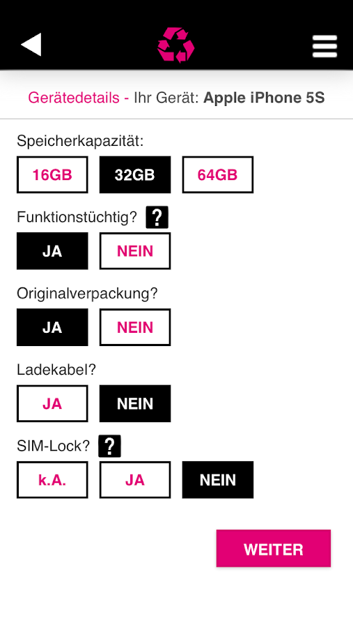 T-Mobile Handy Ankauf- screenshot