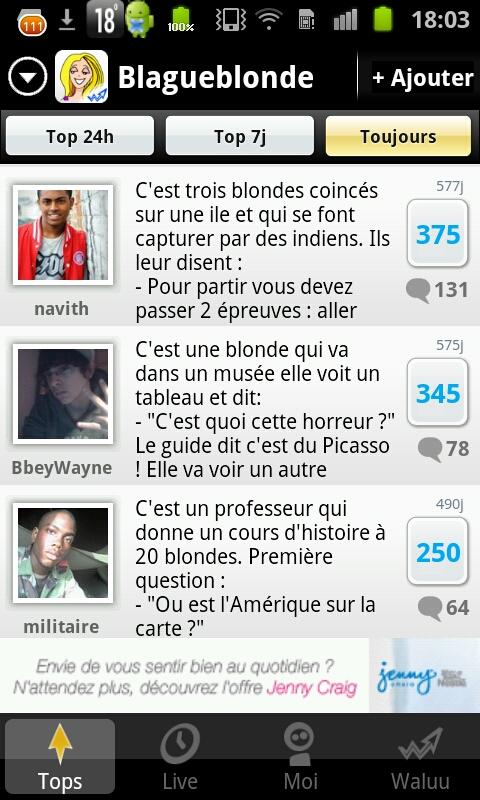 Blagues de Blondes - screenshot