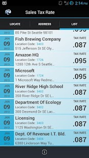 WA Sales Tax Rate Lookup - screenshot thumbnail