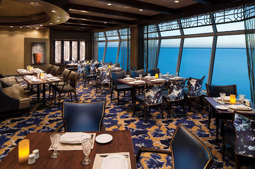 Navigator-of-the-Seas-Giovannis-Table - The ocean views are as lovely as the food at Giovanni's Table, a family-style Italian restaurant on deck 11 of Navigator of the Seas.