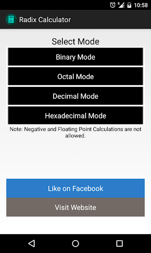 Radix Calculator