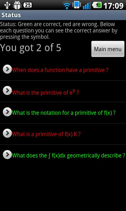 Math Quiz High School - screenshot