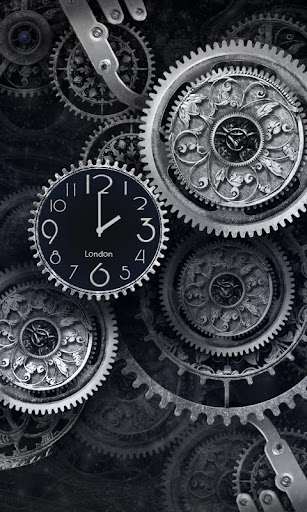 FREE Black Clock LiveWallpaper