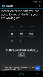 90night: SleepyTime Calculator - screenshot thumbnail