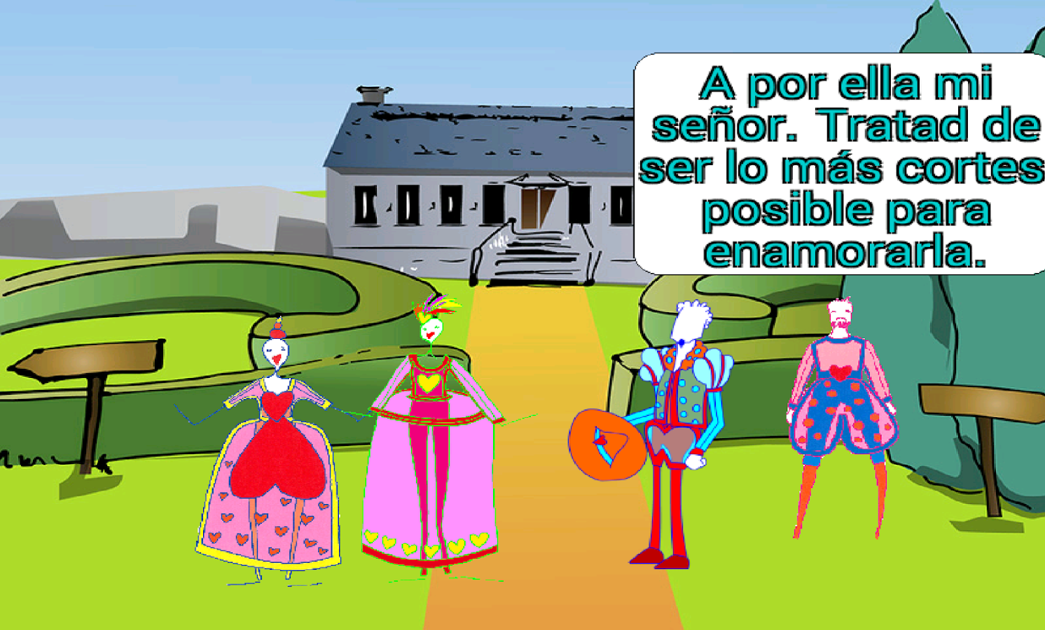La Dama Boba (Juego educativo)- screenshot