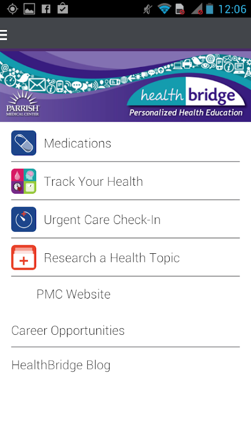 PMC HealthBridge - screenshot