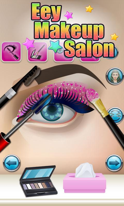 Eyes Makeup Salon - kids games - screenshot