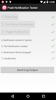 Screenshot of Push Notification Tester