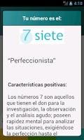 Screenshot of Numerología