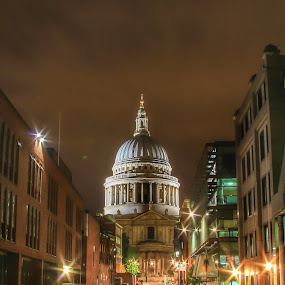 St Paul's  by Nachau Kirwan - Buildings & Architecture Public & Historical ( night photography, london, happy, cathedral, town, fun, city, Lighting, moods, mood lighting, , Urban, City, Lifestyle )