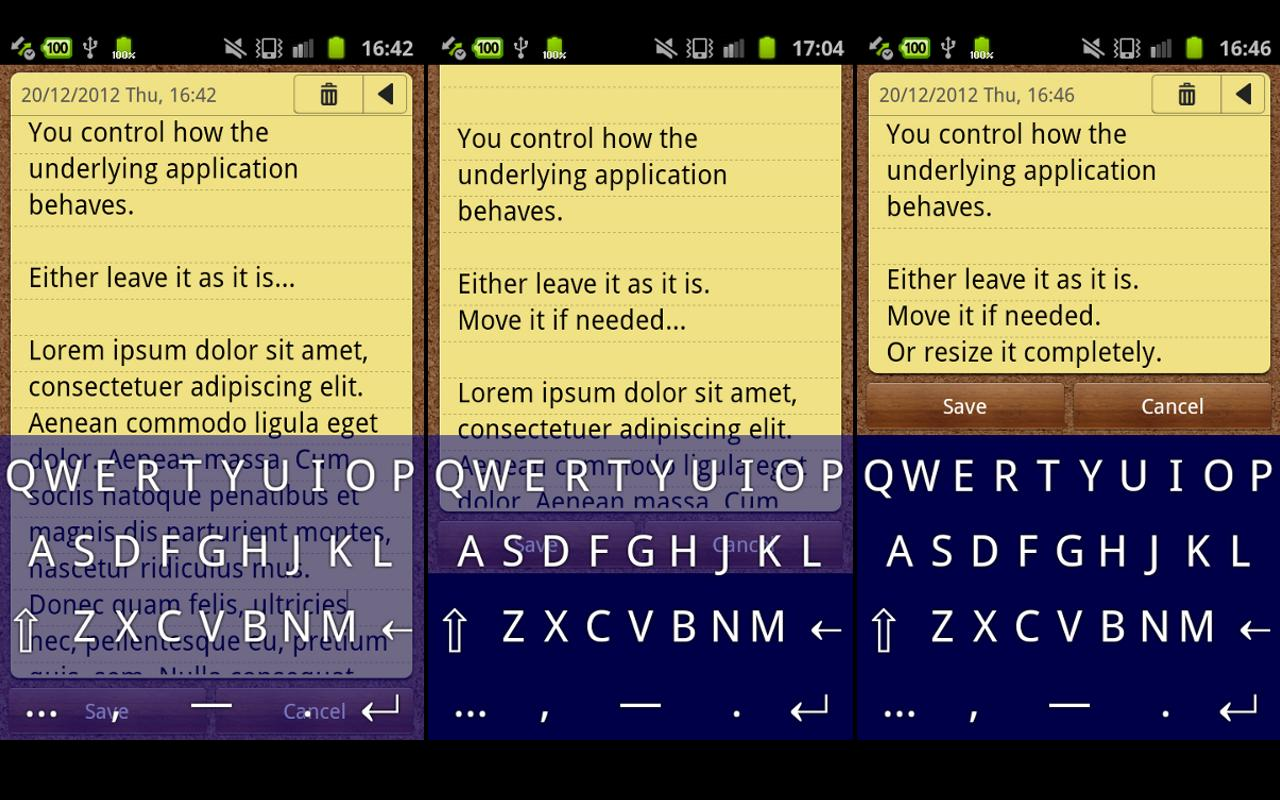Transparent Keyboard Phone- screenshot