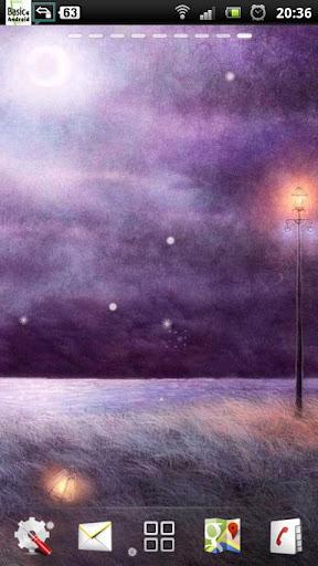 紫の夜のフィールド LWP
