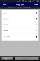 Screenshot of FNB Muscatine Mobile Banking
