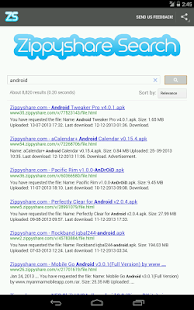 Zippyshare Simple Search - screenshot thumbnail