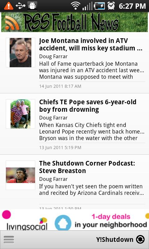 RSS Football News - screenshot