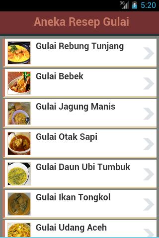 Resep Masakan Gulai