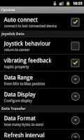 Screenshot of Joystick bluetooth Commander