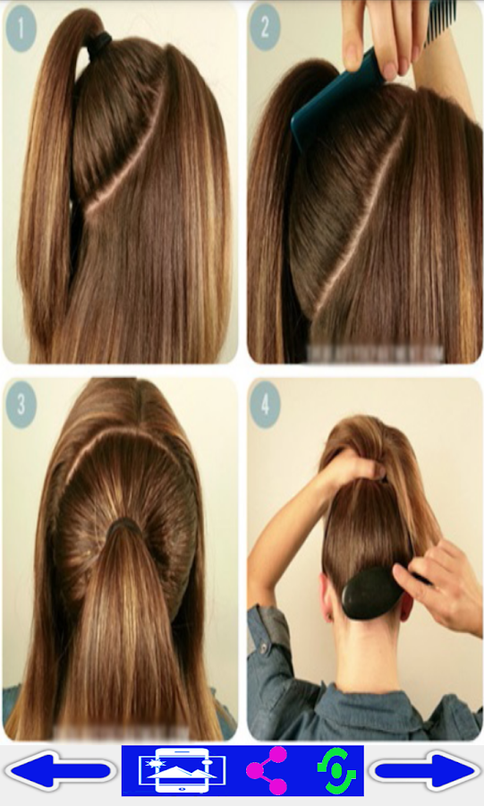 easy hair styles step by step step by step hairstyles android apps on play 4222