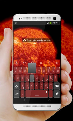 無料个人化Appのオレンジパワーキーボード|記事Game
