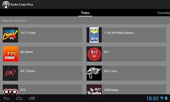 Screenshot of Radio Costa Rica
