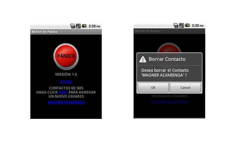 Panic Button- screenshot