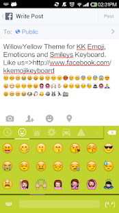 Willow Yellow - Emoji Keyboard