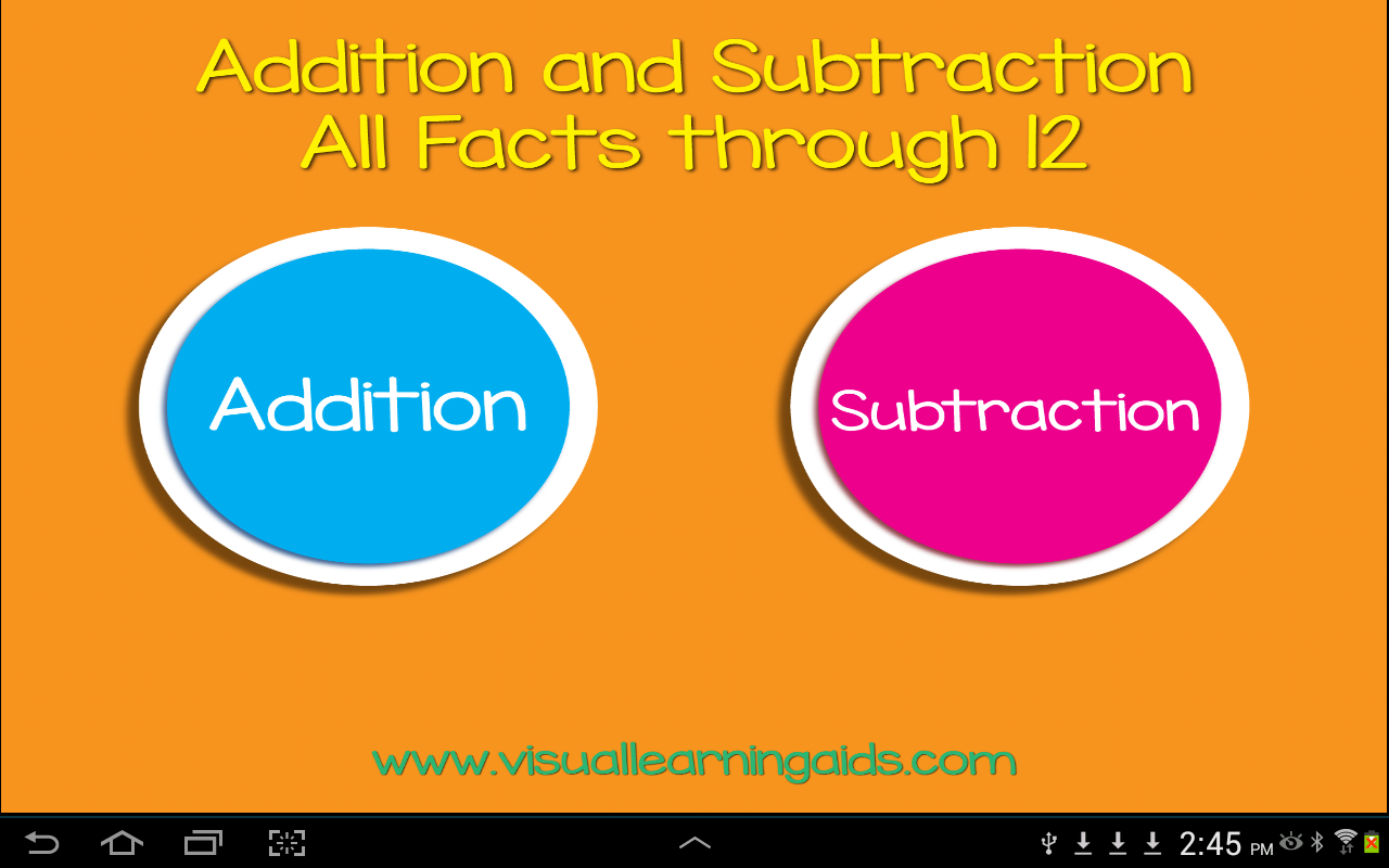 Addition SubtractionFlashCards- screenshot