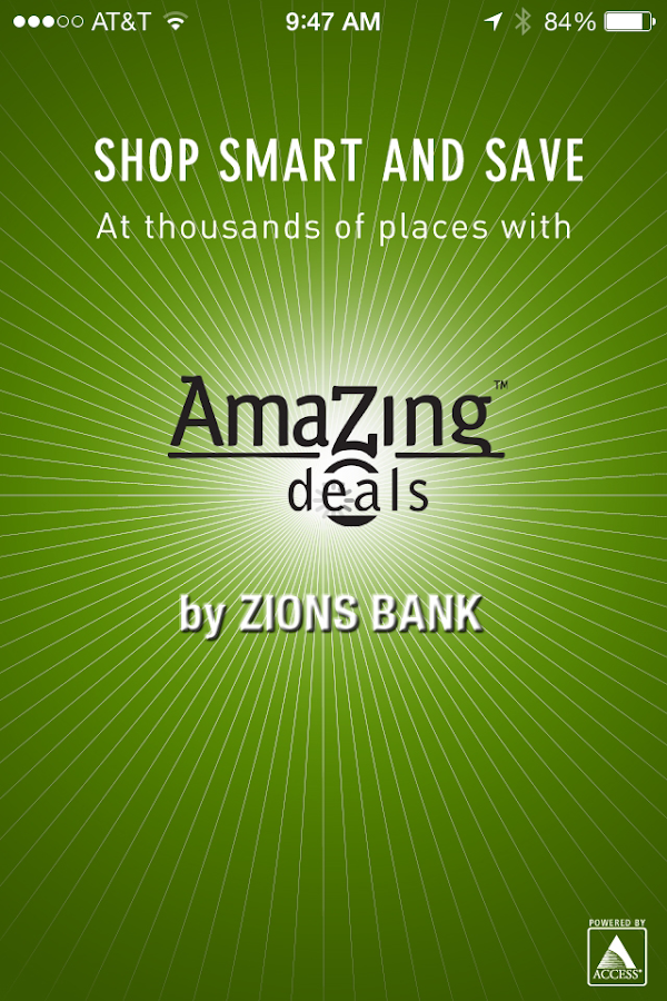Zions Bank AmaZing Deals- screenshot