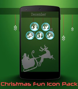 Christmas Fun Theme+Icon pack - screenshot thumbnail