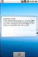 Screenshot of Bible quote widget