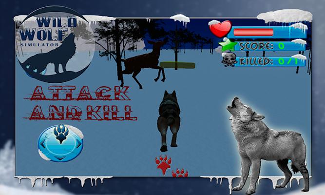 Wild Wolf Simulator 3D - screenshot