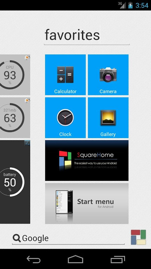SquareHome beyond Windows 8 - screenshot