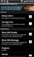 Screenshot of Unread SMS Status Free