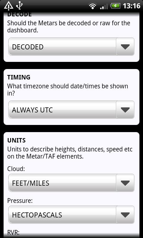 AirReport Lite - METAR & TAF- screenshot