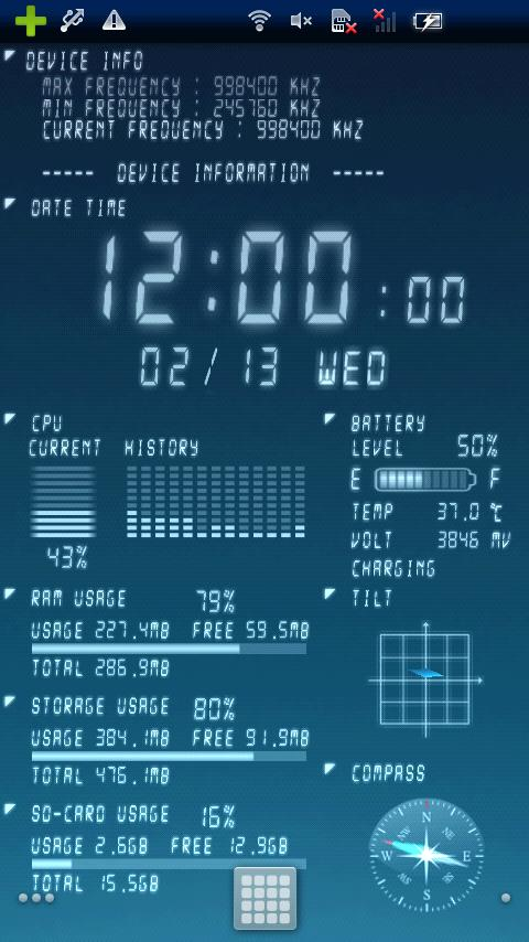 Device Info Ex Live Wallpaper - screenshot