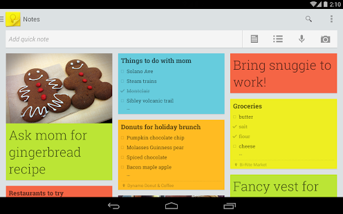 Google Keep - screenshot thumbnail