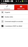 Screenshot of SEAT Service