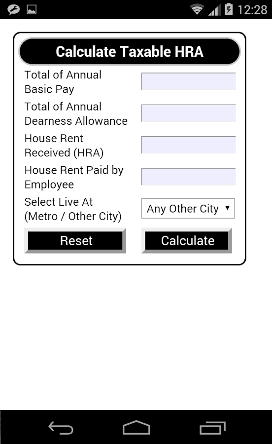 Tax Calculator - India- screenshot
