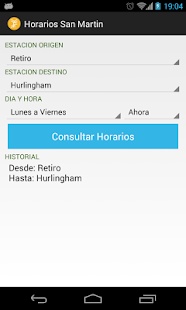 Horarios San Martin- screenshot thumbnail