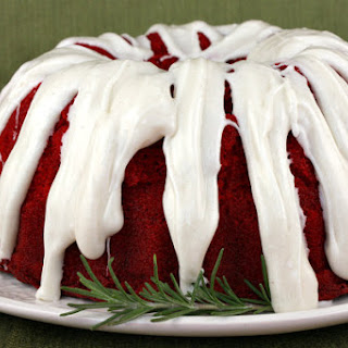Red Velvet Bundt Cake with Cinnamon- Cream Cheese Glaze