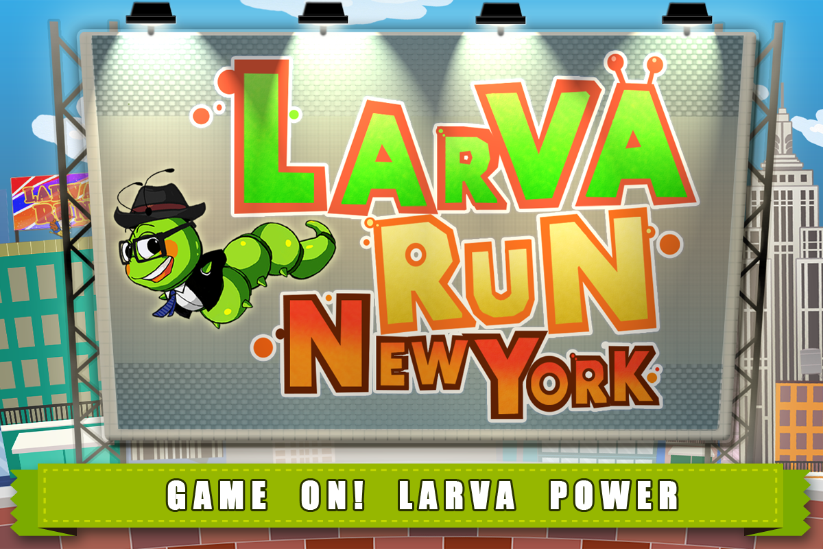 Larva Run New York - screenshot