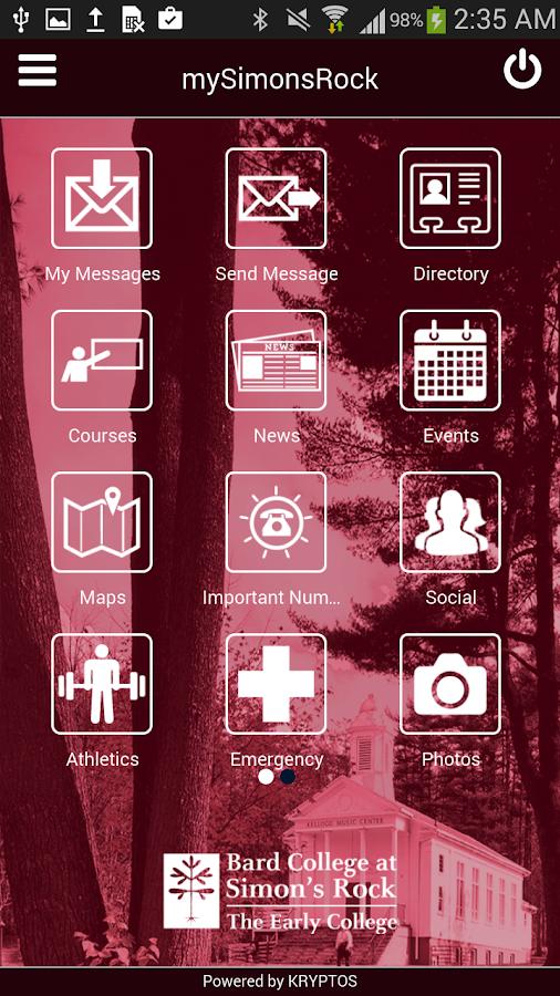mySimonsRock - screenshot